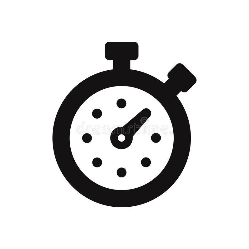 Stopwatch icon. Stopwatch sign for web and graphic design. royalty free illustration
