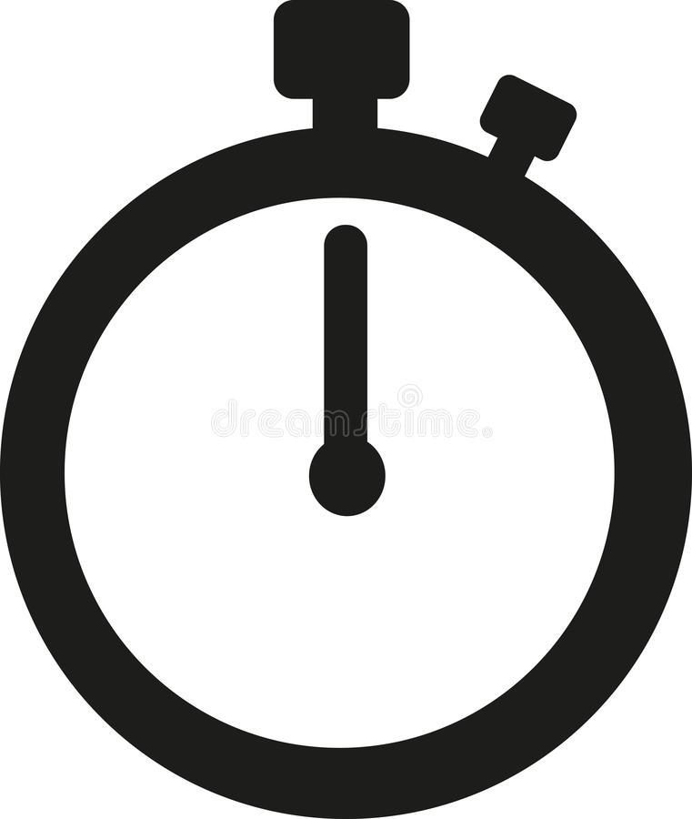 Stopwatch icon time. Speed clock vector royalty free illustration