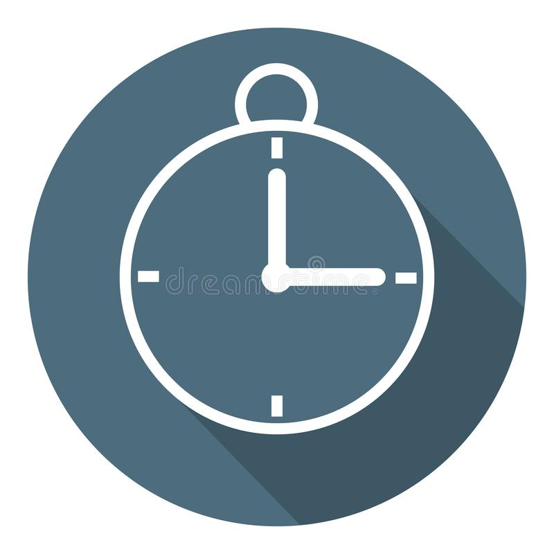 Stopwatch Icon. Time Symbol. Outline Flat Style. Vector illustration for Your Design, Web vector illustration