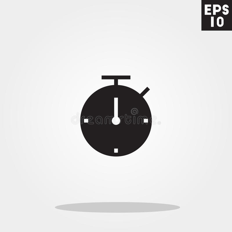 Stopwatch icon in trendy flat style isolated on grey background. Stopwatch symbol for your design, logo, UI. Vector illustration, vector illustration