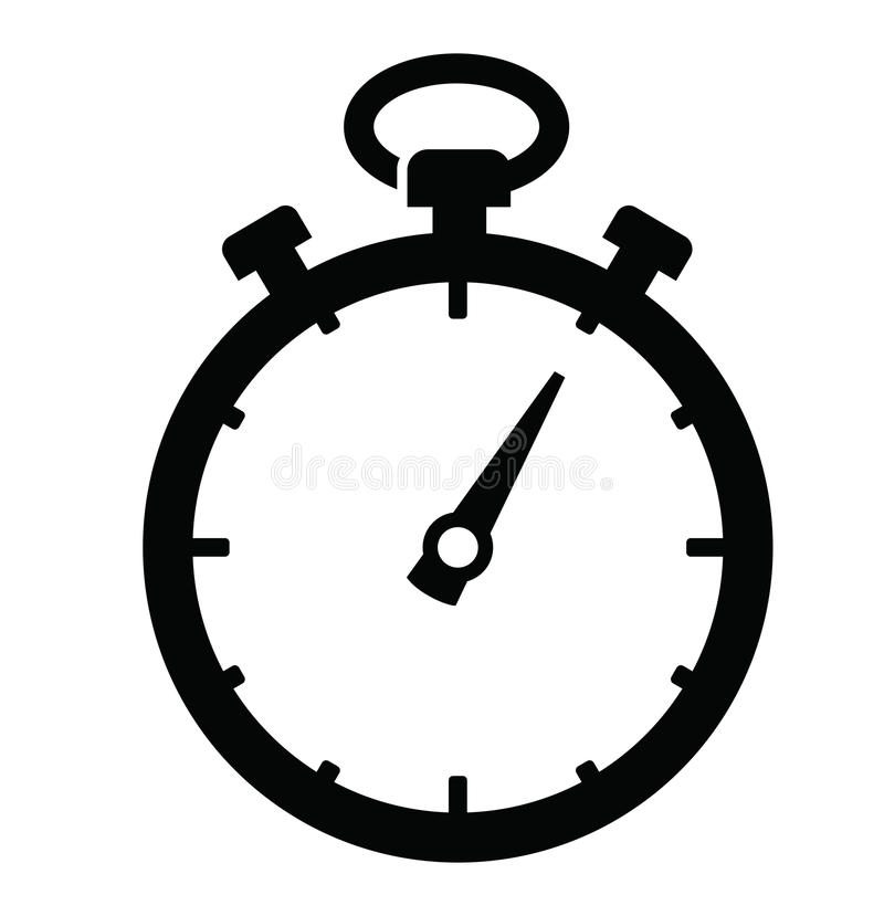 Stopwatch icon royalty free illustration