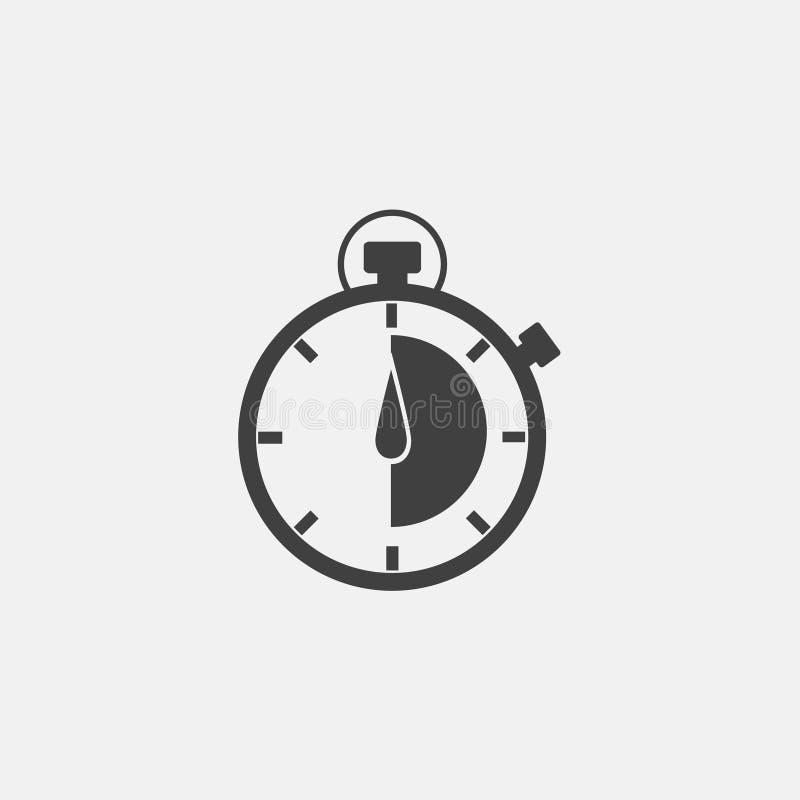 Stopwatch ikona ilustracja wektor