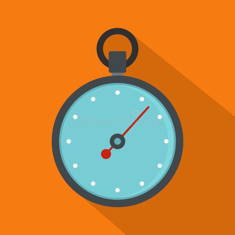 Stopwatch ikona, mieszkanie styl ilustracja wektor