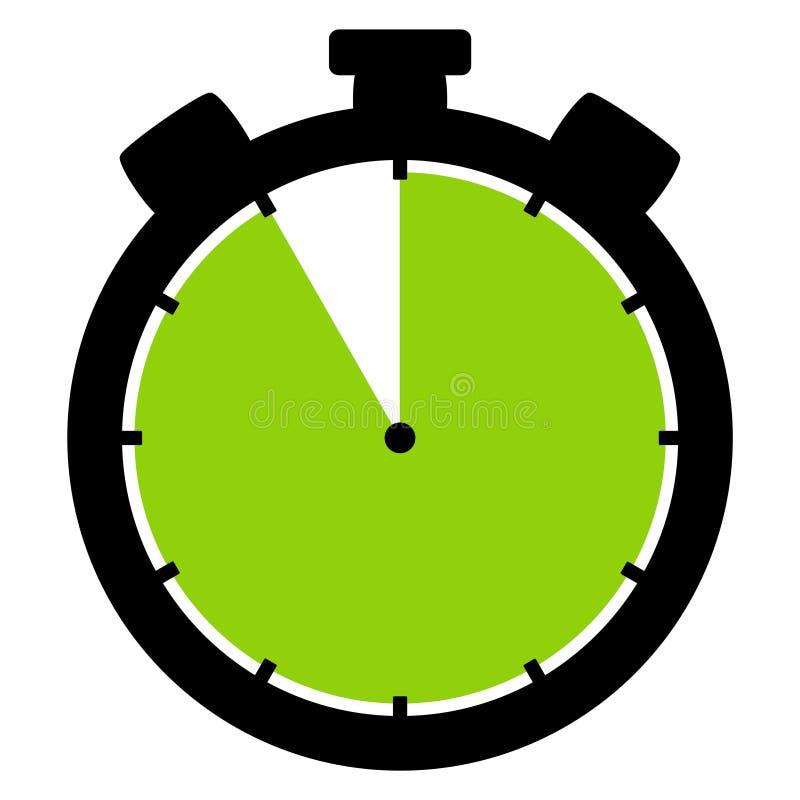 Stopwatch ikona: 55 minut 55 sekund lub 11 godzina royalty ilustracja
