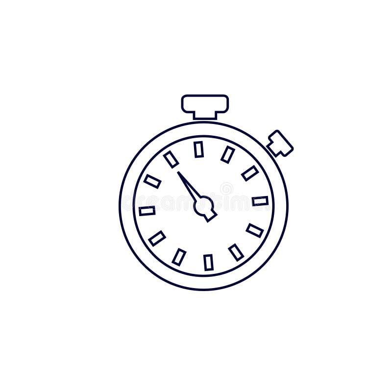 Stopwatch ikona, wektorowa ilustracja zegar ikona, Wektorowa ilustracja royalty ilustracja