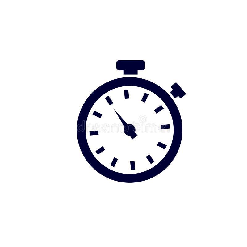 Stopwatch ikona, wektorowa ilustracja zegar ikona, Wektorowa ilustracja ilustracji
