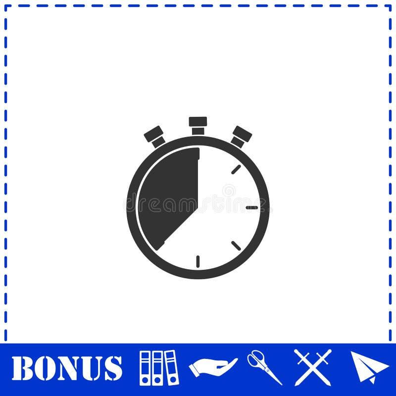 Stopwatch ikony mieszkanie royalty ilustracja