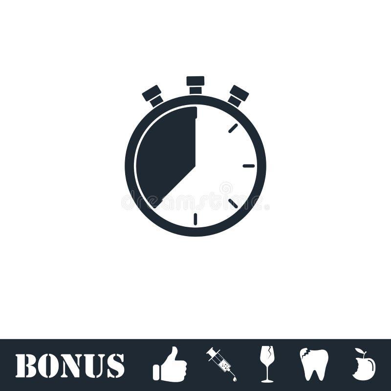 Stopwatch ikony mieszkanie ilustracji
