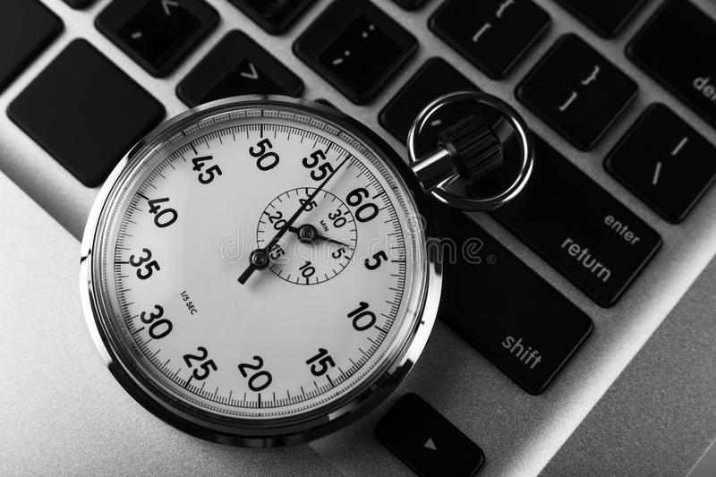 Download Stopwatch Keyboard stock photo. Image of internet, laptop - 25331360