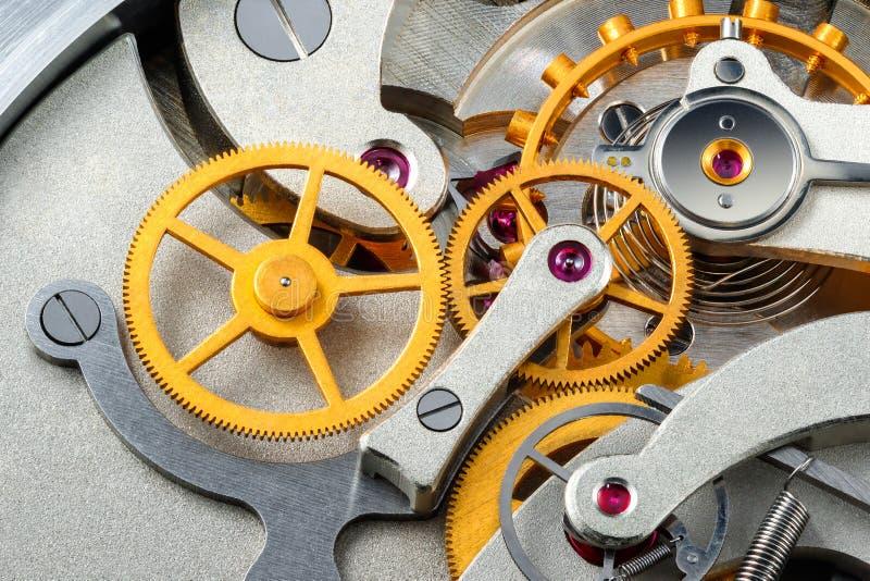 Stopwatch mechanism. stock image