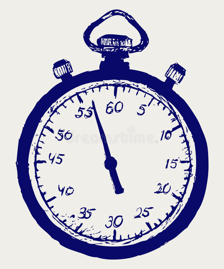 Stopwatch nakreślenie ilustracja wektor