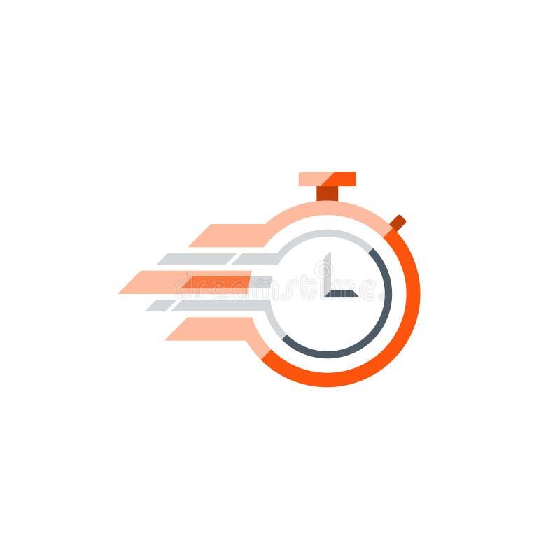 Stopwatch płaska wektorowa ikona, czasu pojęcie ilustracji