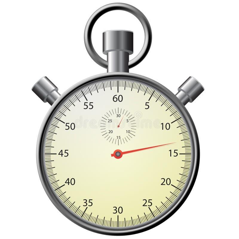 Stopwatch, realistyczna ilustracja. zdjęcia royalty free