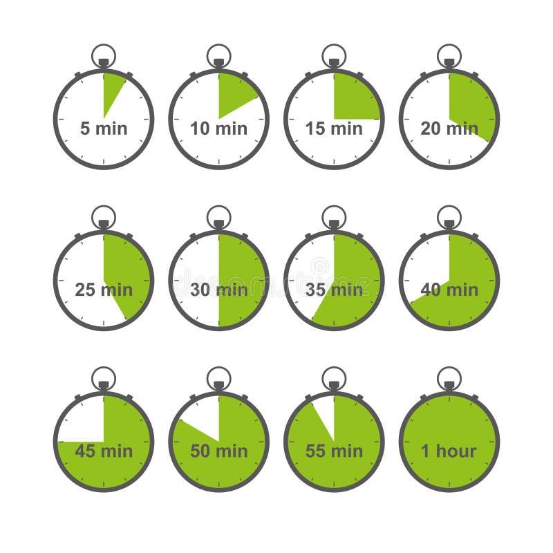 Stopwatch set vector illustration