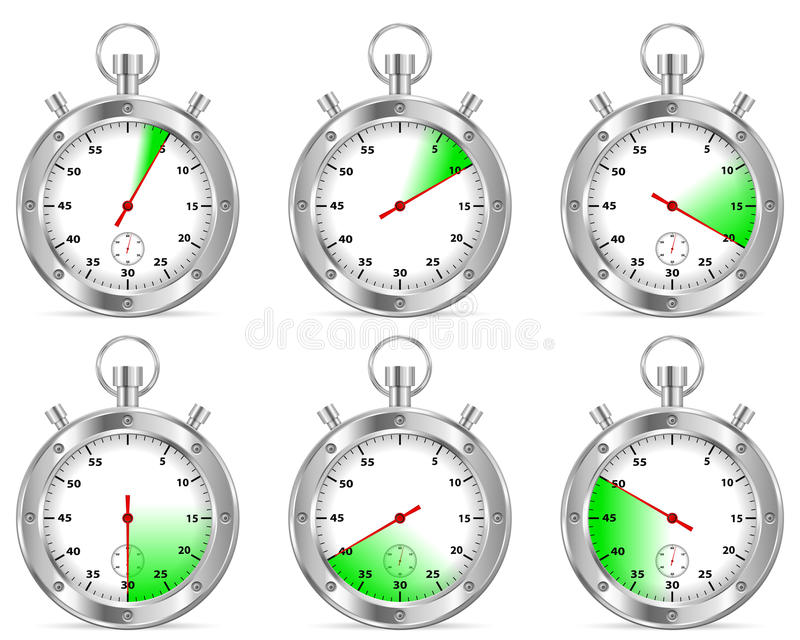 Stopwatch set stock illustration