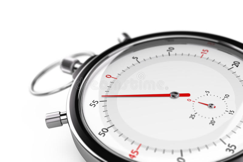 Stopwatch, Less than one minute royalty free illustration