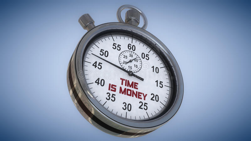 Stopwatch and time. Is money royalty free stock images