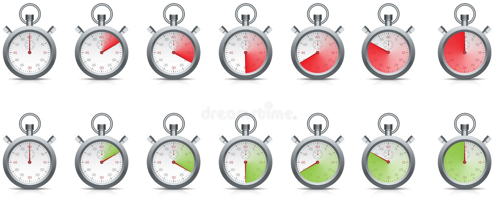 Stopwatch with time passing royalty free stock photos