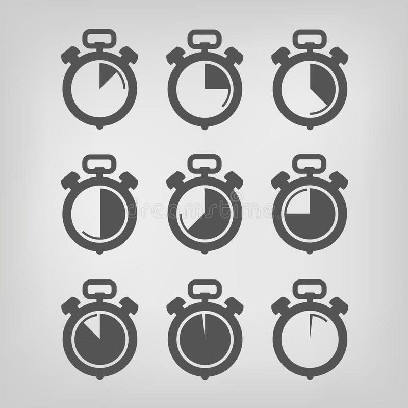 Stopwatch. Vector illustration