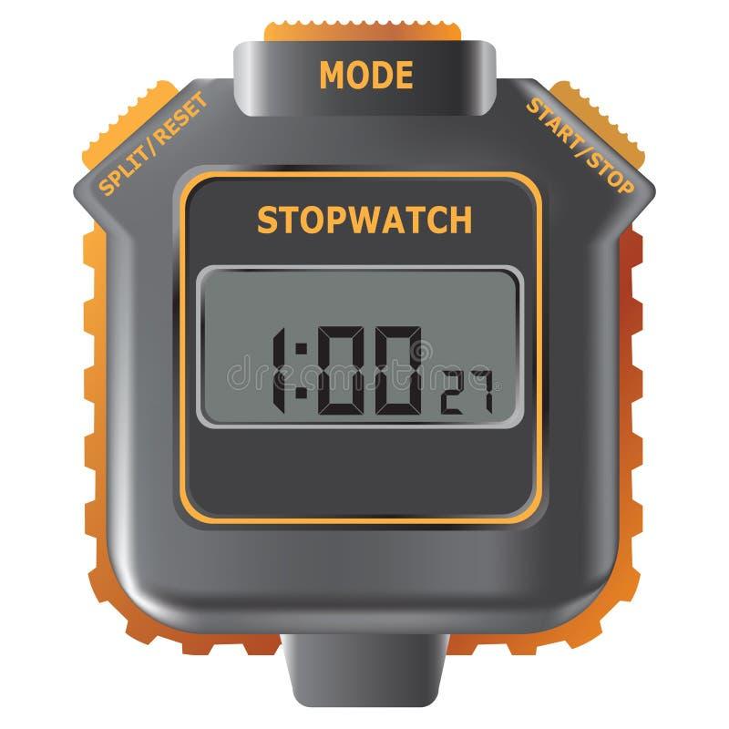 Stopwatch. Vektorillustration. stock illustrationer