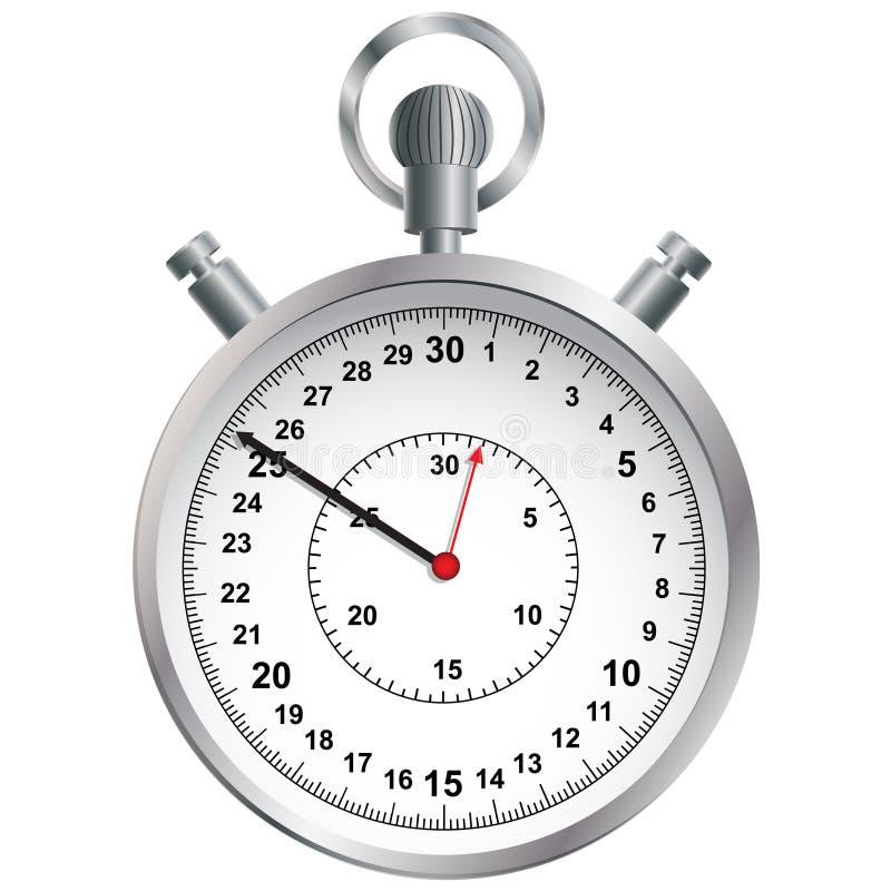 Stopwatch. Vektorillustration. royaltyfri illustrationer