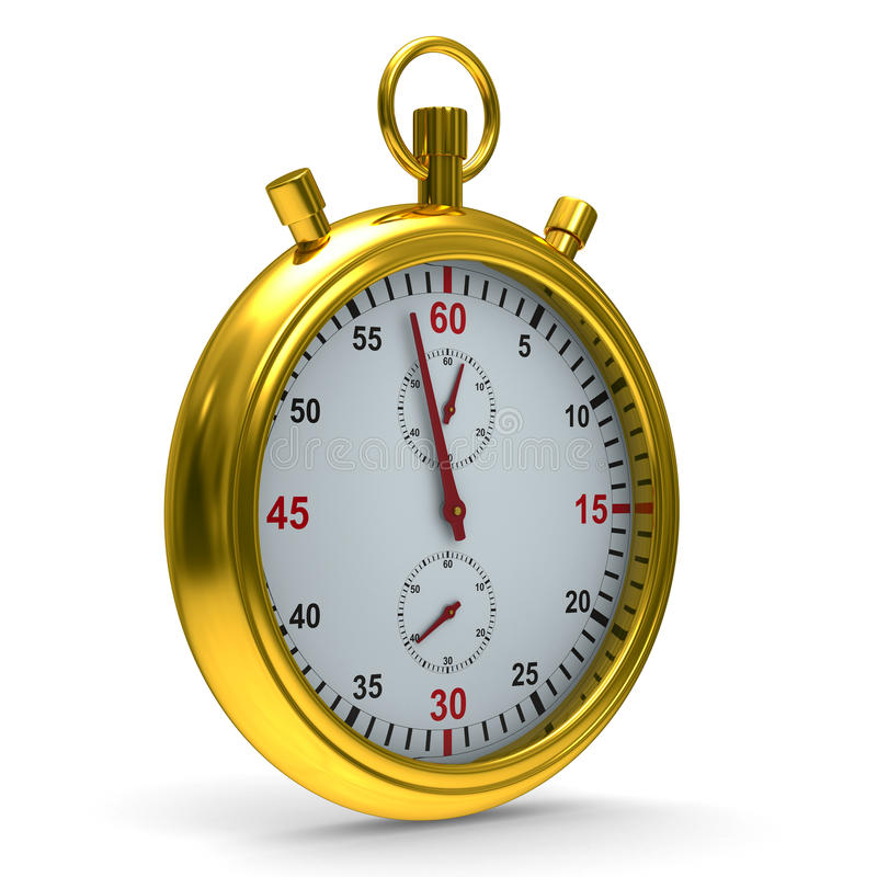 Download Stopwatch On White Background Stock Illustration - Image: 21609575