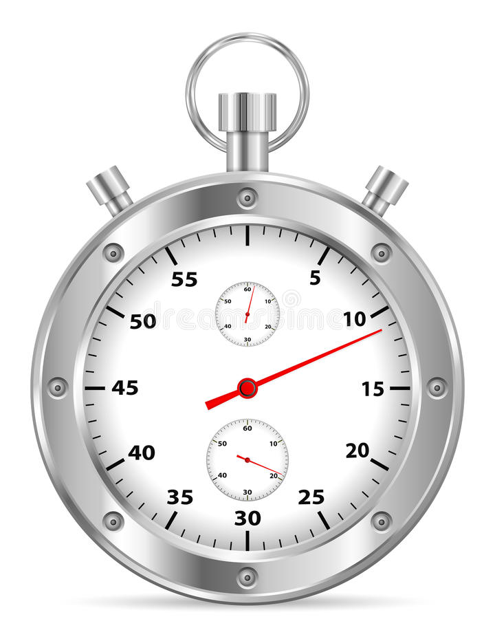 Stopwatch royalty free illustration