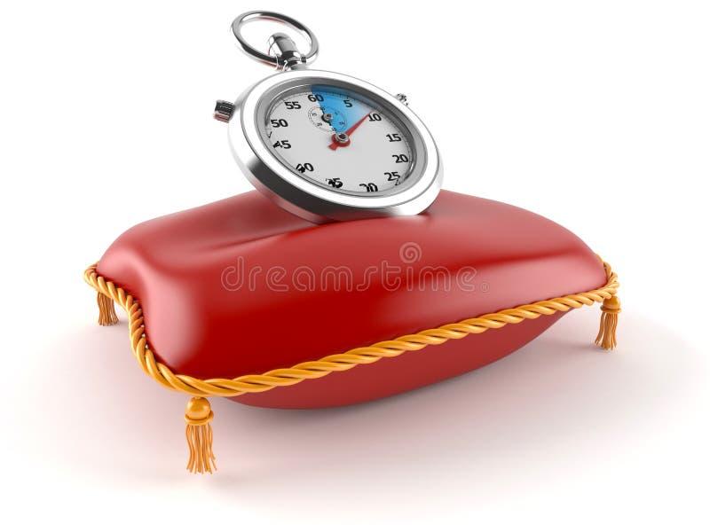 Stopwatch z poduszką ilustracji