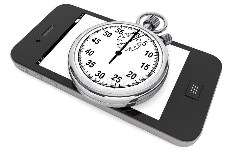 Stopwatch z Telefon Komórkowy royalty ilustracja