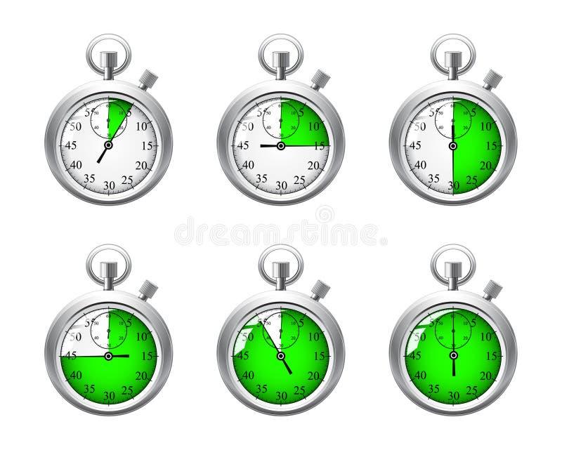 stopwatches royalty ilustracja
