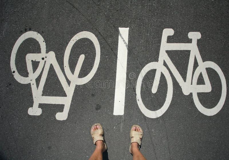 stopy rowerów fotografia royalty free