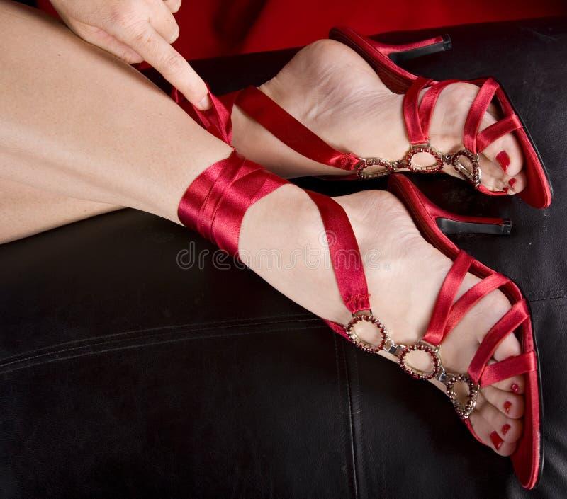 stopy s butów seksowną kobietę zdjęcie stock