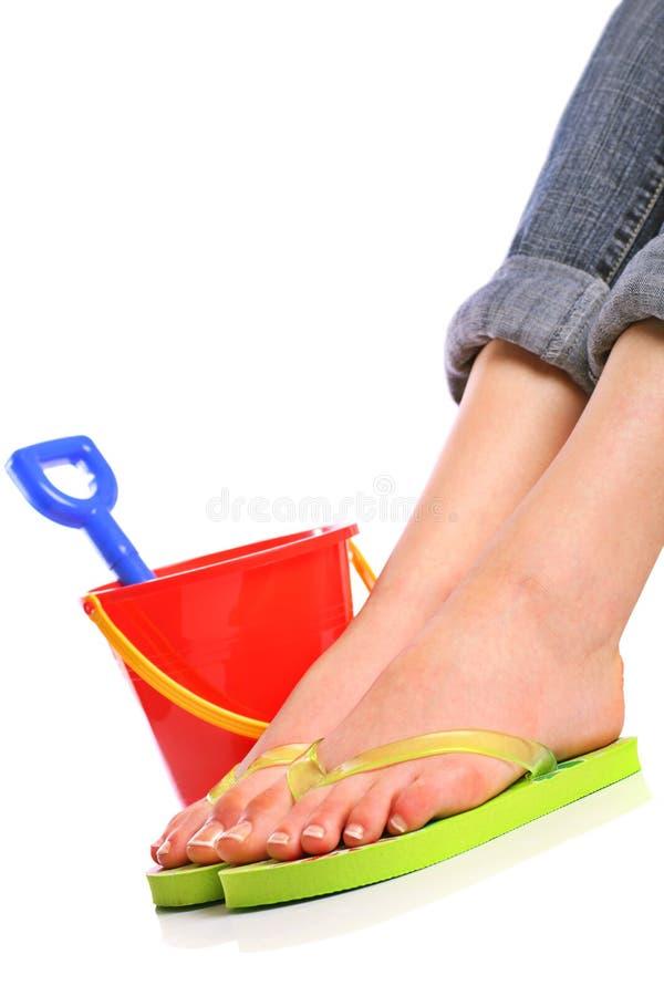 stopy wakacyjne zdjęcie royalty free