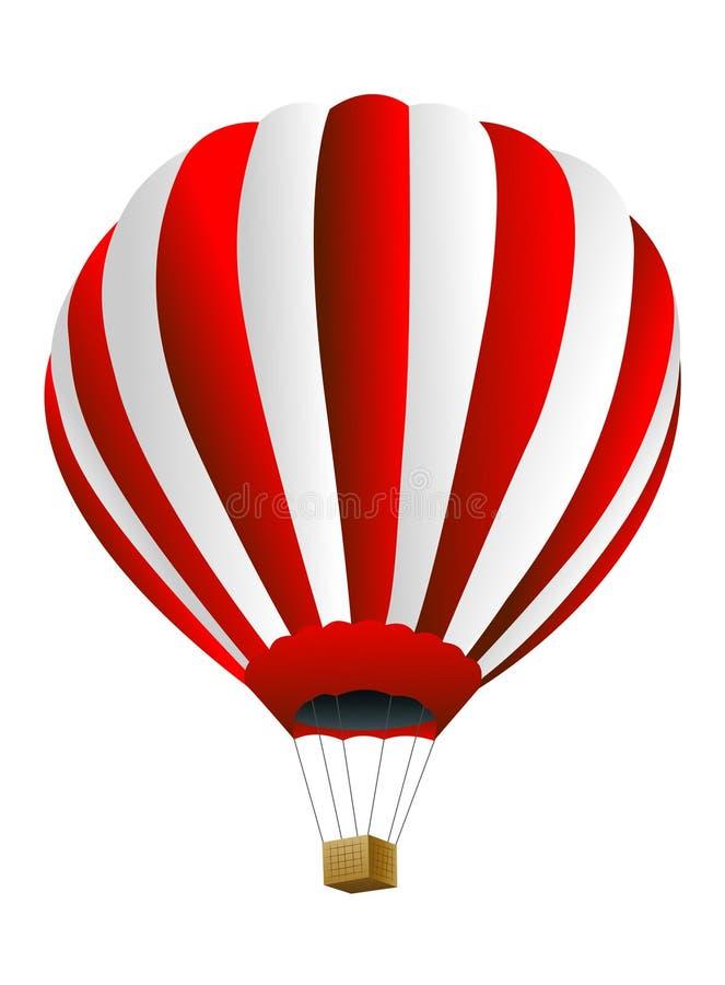 Stor ballong på en vit bakgrund vektor illustrationer