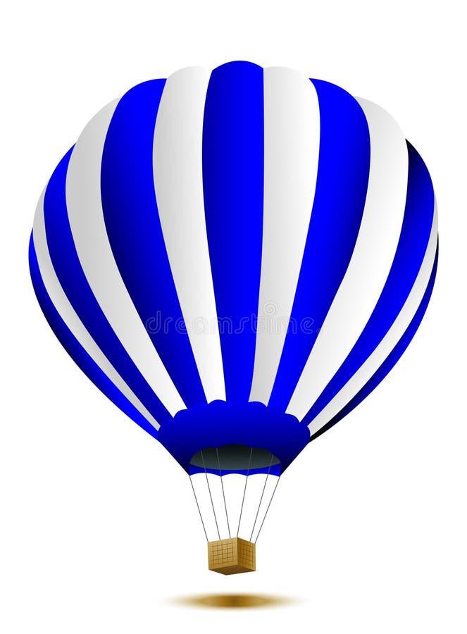 Stor ballong på en vit bakgrund royaltyfri illustrationer
