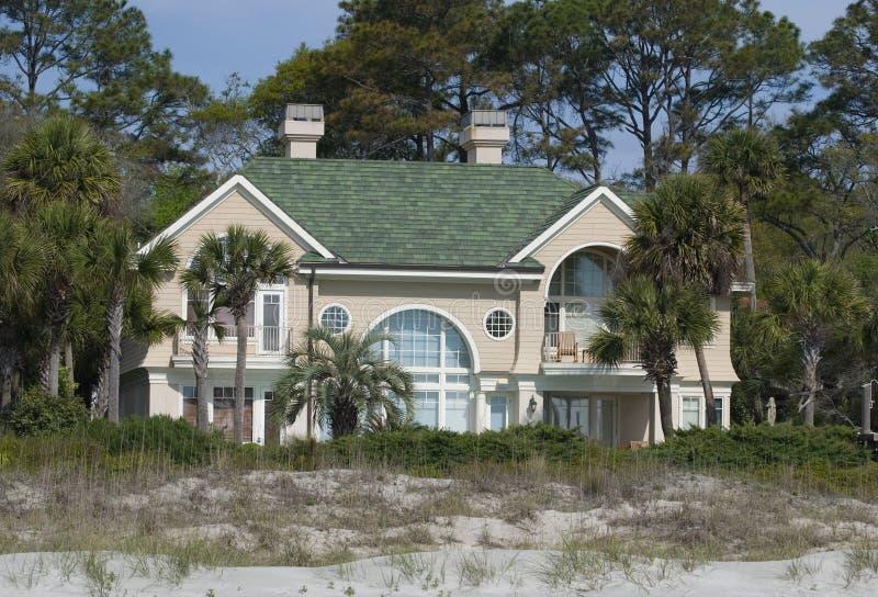 stor beachouse royaltyfri foto