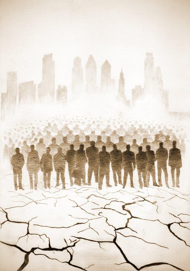 Stor befolkning av jorden arkivbild