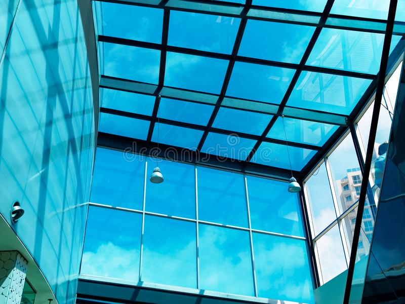 Stor blå hjärtförmak för plattaexponeringsglas fotografering för bildbyråer
