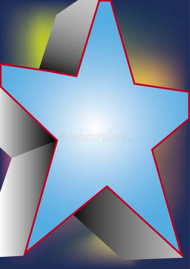 stor blå stjärna stock illustrationer