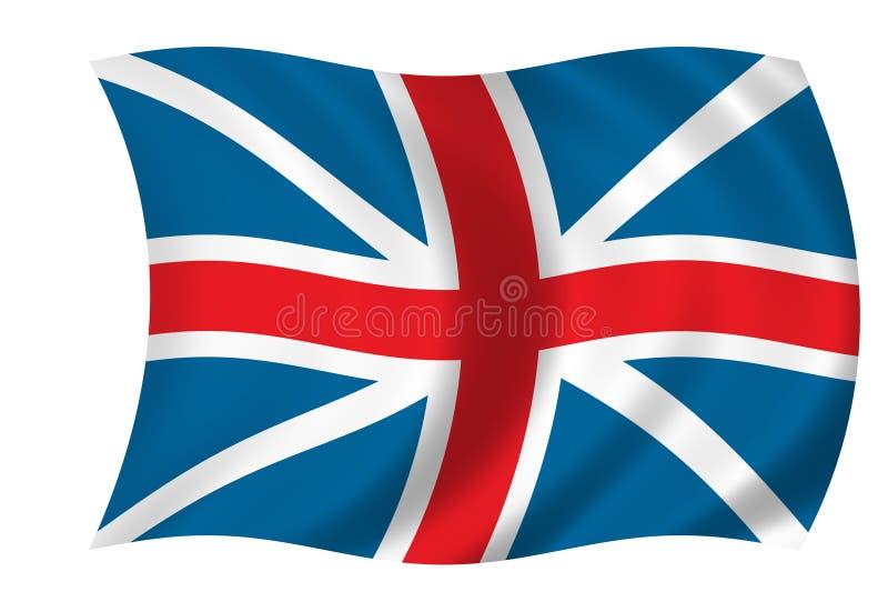 stor britain flagga vektor illustrationer