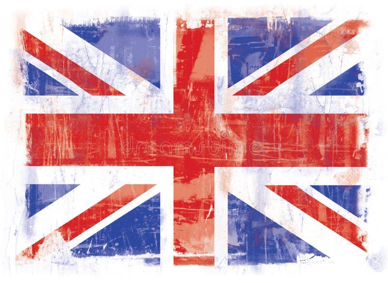 stor britain flagga royaltyfri illustrationer