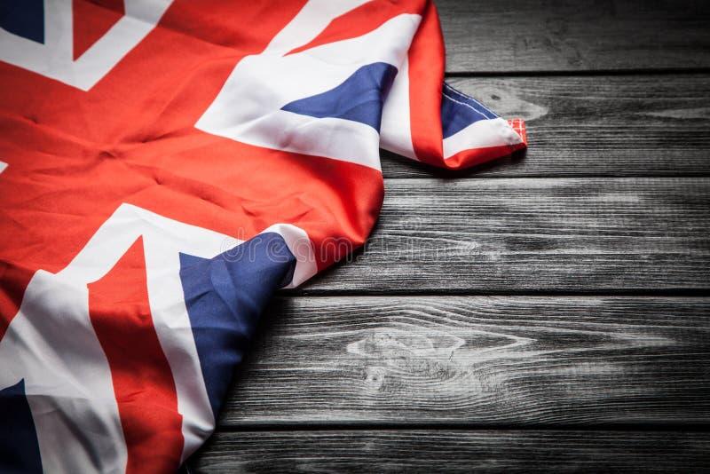 stor britain flagga royaltyfri foto