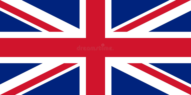 stor britain flagga Vektorillustration EPS10 royaltyfri illustrationer