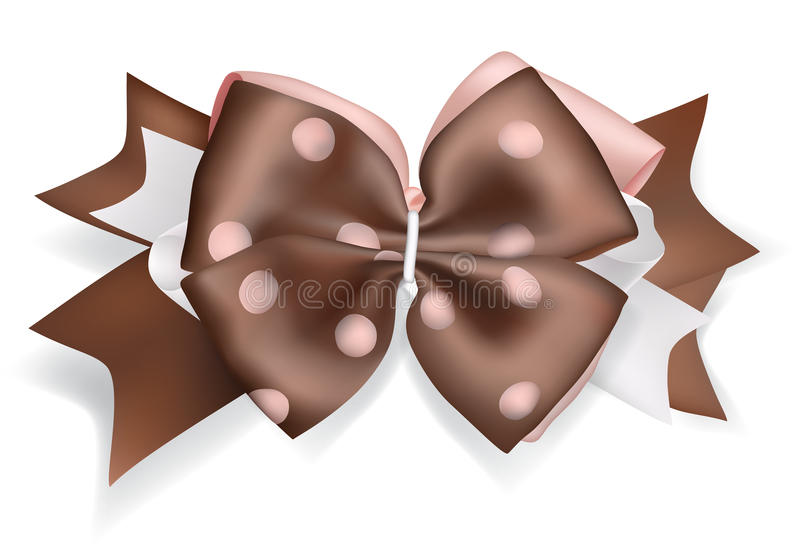 Stor brun pilbåge vektor illustrationer