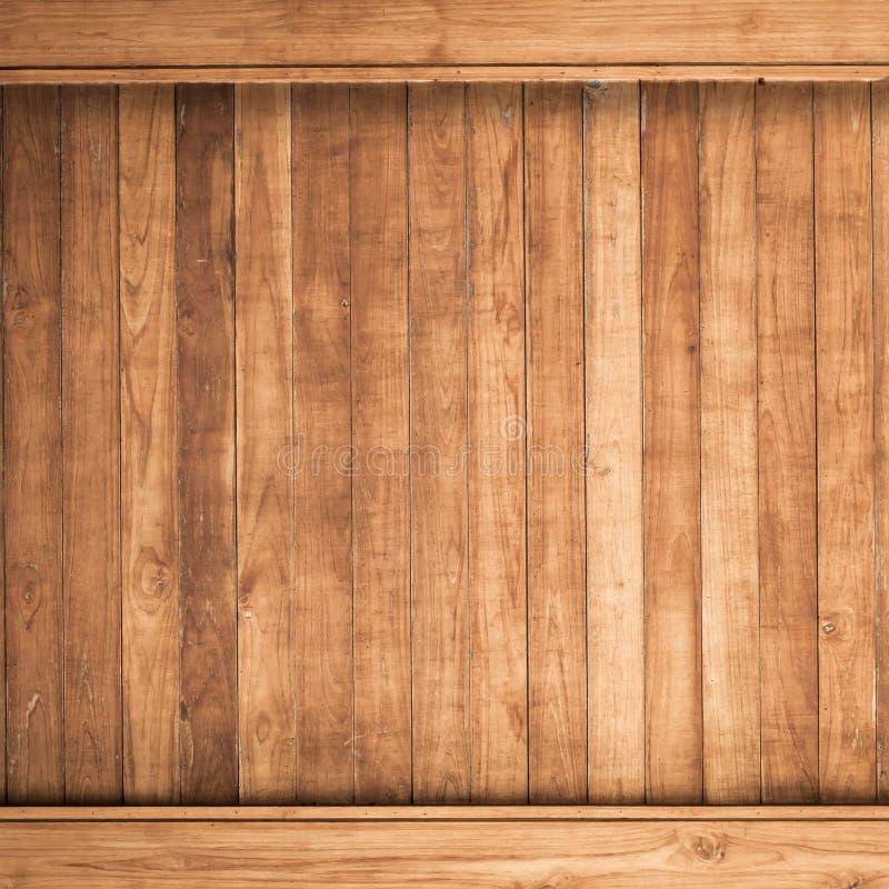 Stor brun wood bakgrund för plankaväggtextur arkivbild