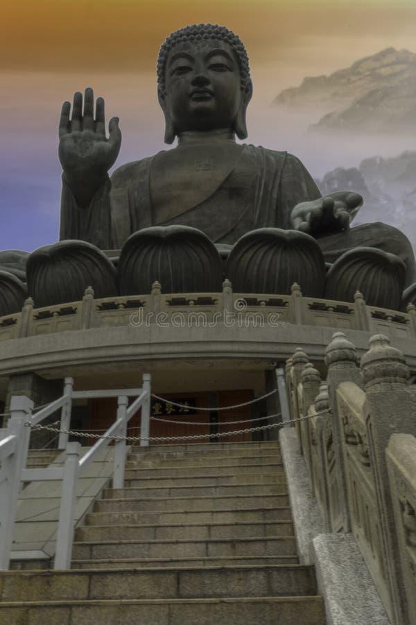 Stor Buddha Hong Kong arkivfoton