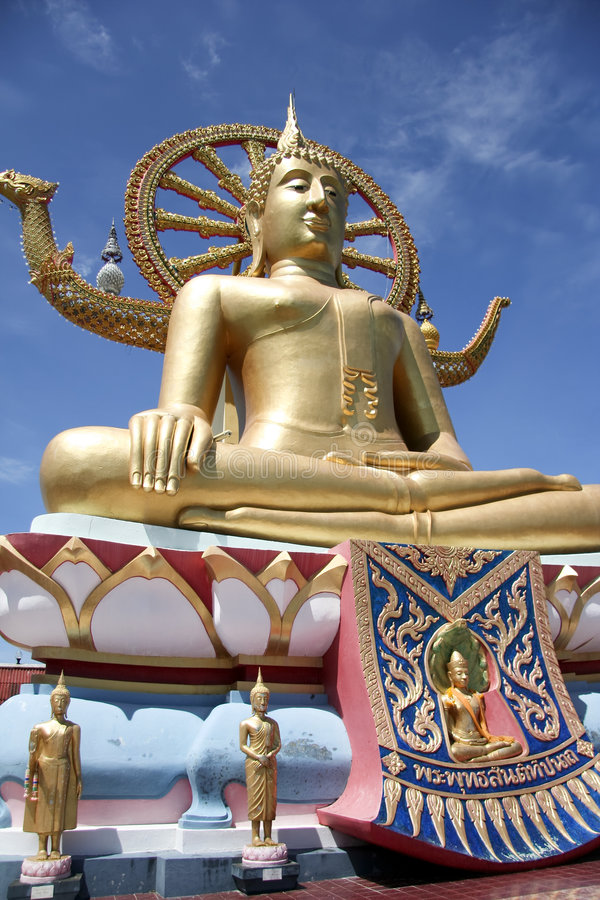 stor buddha kohsamui thailand royaltyfria foton