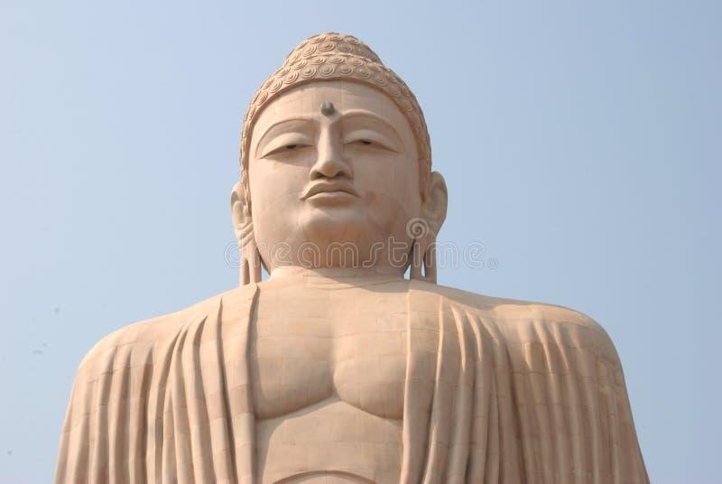 Stor Buddhastaty för jätte- sten på Bodh Gaya India royaltyfri bild