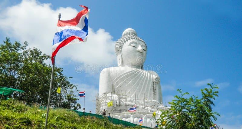 Stor Buddhastaty, Phuket, Thailand fotografering för bildbyråer