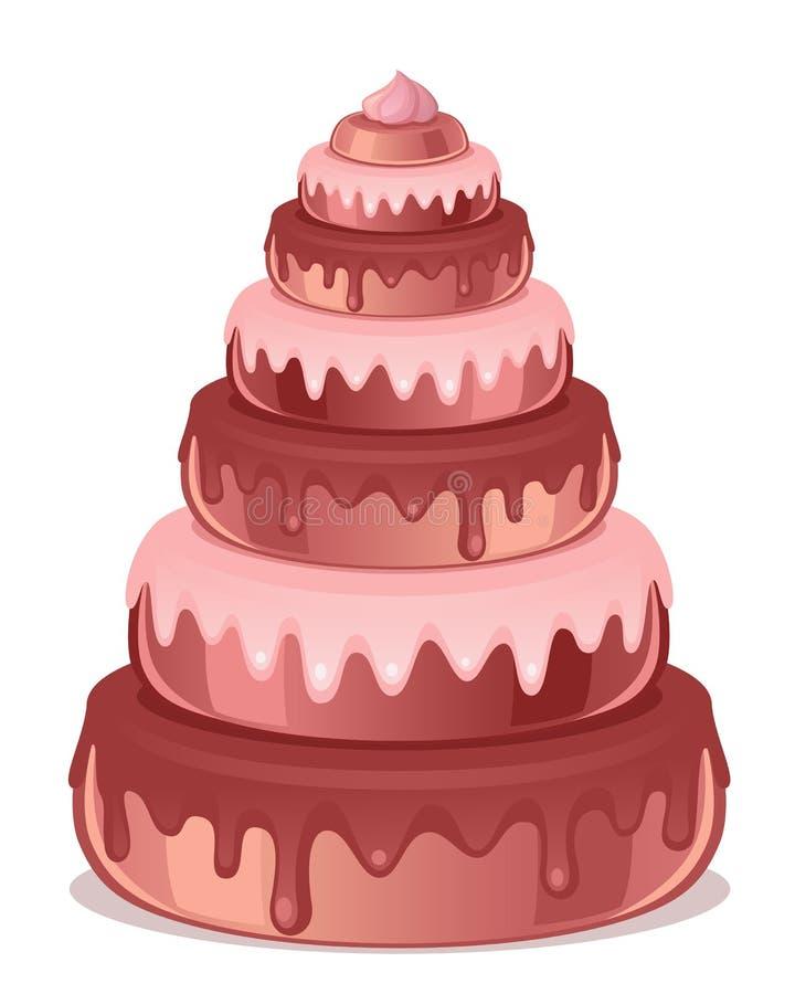 stor cake stock illustrationer